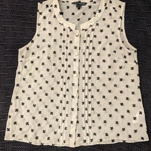French Connection Sleeveless Asterisk Blouse
